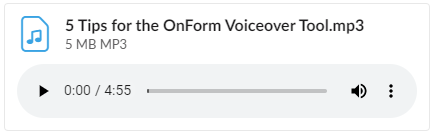 5 Tips for OnForm Voiceover Recording