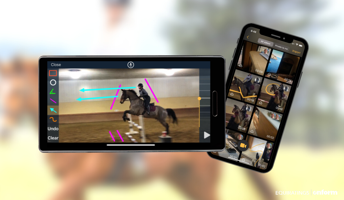 EquiRatings OnForm Equestrian Eventing Horse Sports Training Screens
