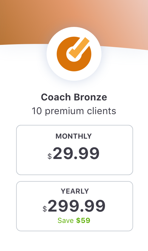 EquiRatings OnForm App for Equestrian Online Coaching in Horse Sport Coach Bronze Package Price
