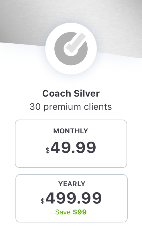 EquiRatings OnForm App for Equestrian Online Coaching in Horse Sport Coach Silver Package Price